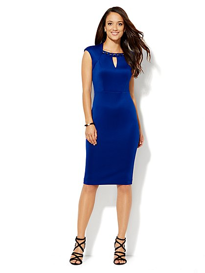 Deal Of The Day: Embellished Scuba Sheath Dress!