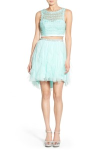 Sequin Hearts Crochet Lace Two Piece Dress Buy Here