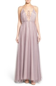Topshop Lace-Up Tulle Maxi Dress Buy Here