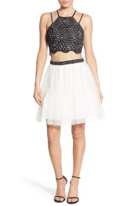 Sequin Hearts Two-Piece Party Dress