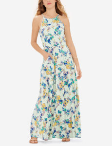 Floral Print Knit Maxi Dress |BUY HERE|