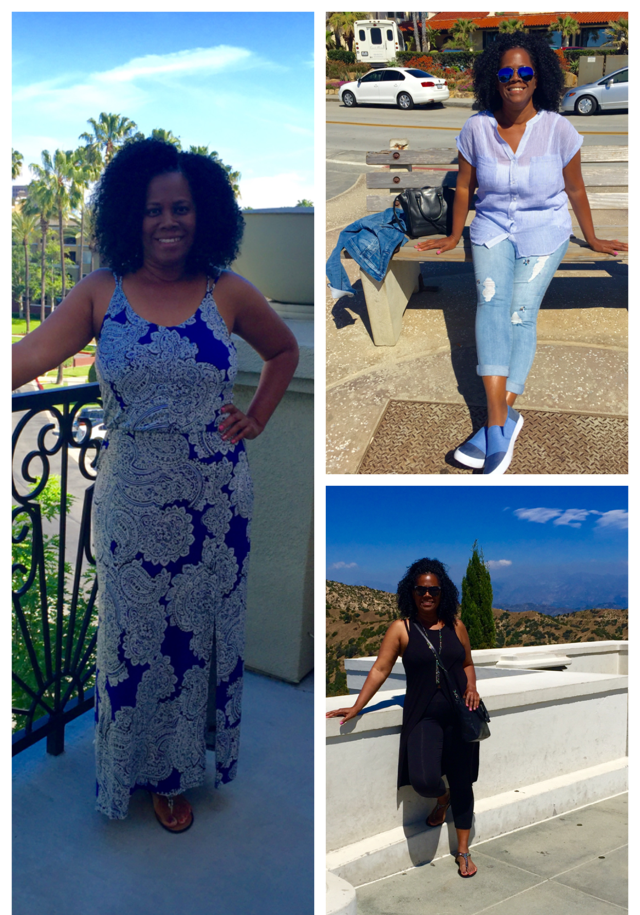 My comfy but chic vacation outfits.  I was having fun in style!