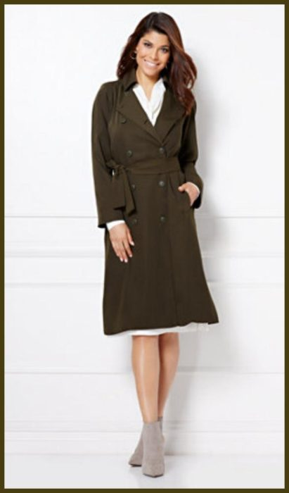 The Daily Find: Eva Mendes Collection – Elena Trench Coat