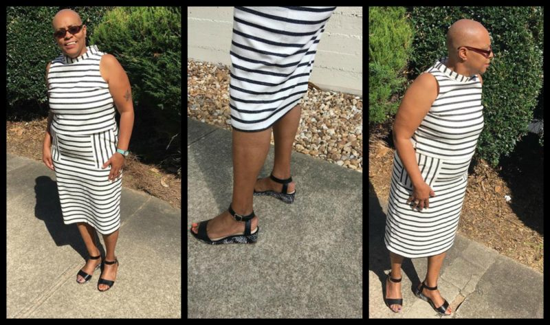 Mimi Horne is wearing a top and skirt from New York And Company. I love how she paired her shoes with her outfit!