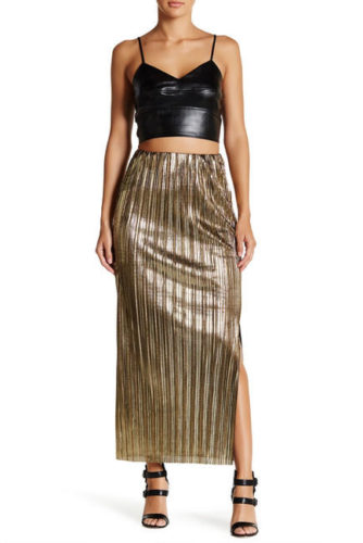 The Daily Find: $16 Metallic Accordion Skirt!