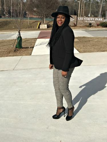 Blogger Style: Houndstooth Print Pants
