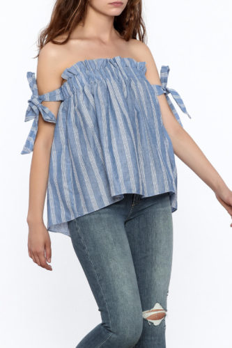 The Daily Find: Stripe Off Shoulder Top