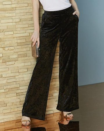 The Daily Find: Crushed Velour Wide Leg Trousers