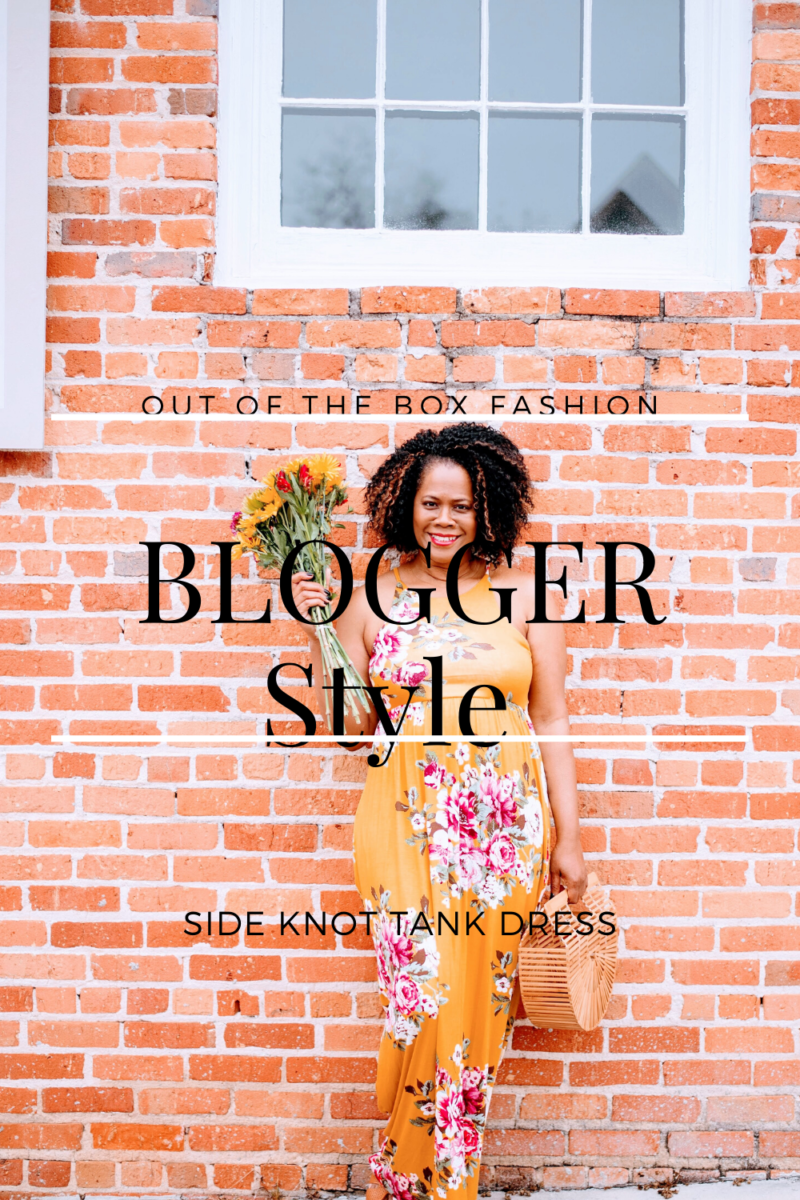 Blogger Style: Side Knot Tank Dress